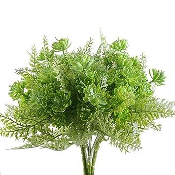 Nahuaa Kunstblumen 4 Stucke Kunstliche Pflanzen Weiss Sukkulenten