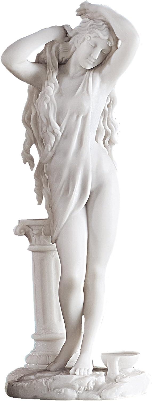 Bianco Design Toscano WU71400 Statua in Marmo la Fonte 9x11.5x28 cm 1856