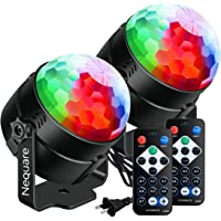 Nequare Disco Lights001 Sound Activated Strobe Light Disco Ball with Remote, 2 Pack
