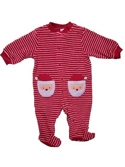 9667e425b1 Amazon.com  Carter s Infant Boys Plush Santa Claus Sleeper Christmas ...