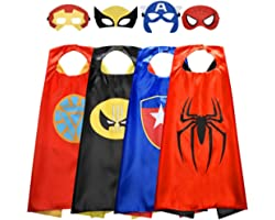 Roko Toys for 3-10 Year Old Boys, Superhero Capes for Kids 3-10 Year Old Boy Gifts Boys Cartoon Dress up Costumes Party Suppl