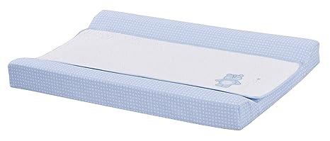 Cambiador bebe interior plastificado Bordado OSITO. Color Azul Medida 80x53 cm. Desenfundable. Válido para cómodas, bañeras y convertibles. KOKETES