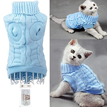 Bolbove Bro\u0027Bear Cable Knit Turtleneck Sweater for Small Dogs \u0026 Cats  Knitwear