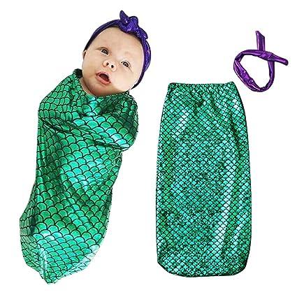 AZUO Bebé Saco De Dormir Bebé Escamas De Pescado Niño Saco De Dormir + Bufanda Dos