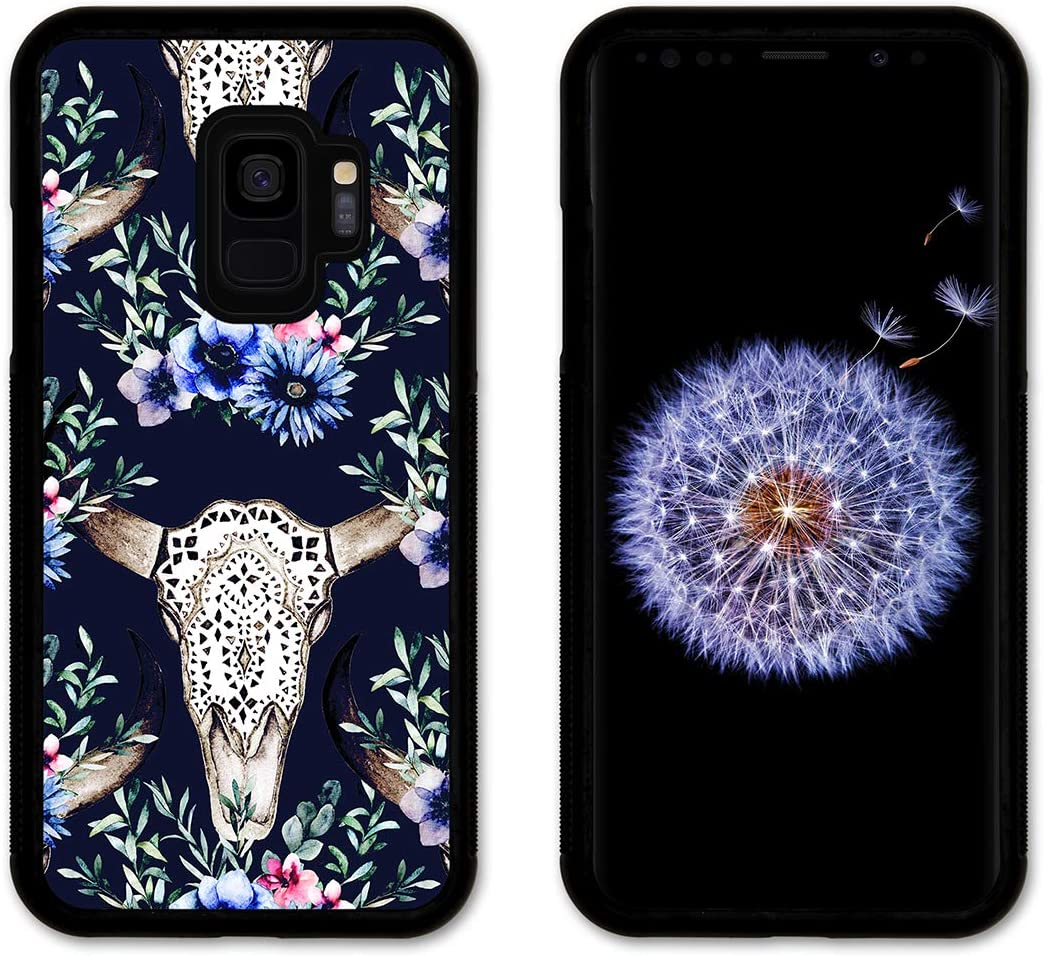 Amazon Com Cell Phone Cover Slim Fit Compatible With Samsung Galaxy S9 Skull Toss With Blue Background
