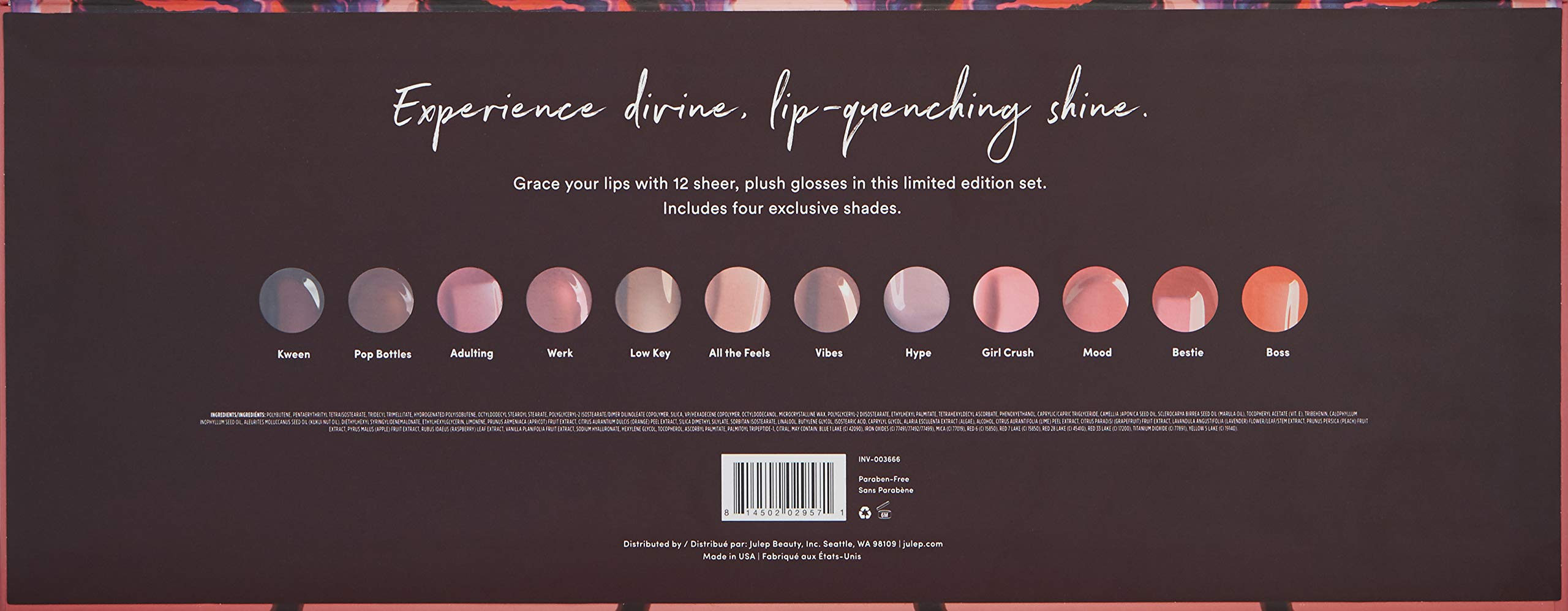 Julep Divine Shine 12-Piece Ultra-Hydrating Lip Gloss Collection by Julep (Image #2)