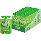 GoGo squeeZ Applesauce, Apple Apple, 3.2 Ounce (18 Pouches), Gluten Free, Vegan Friendly, Unsweetened Applesauce…