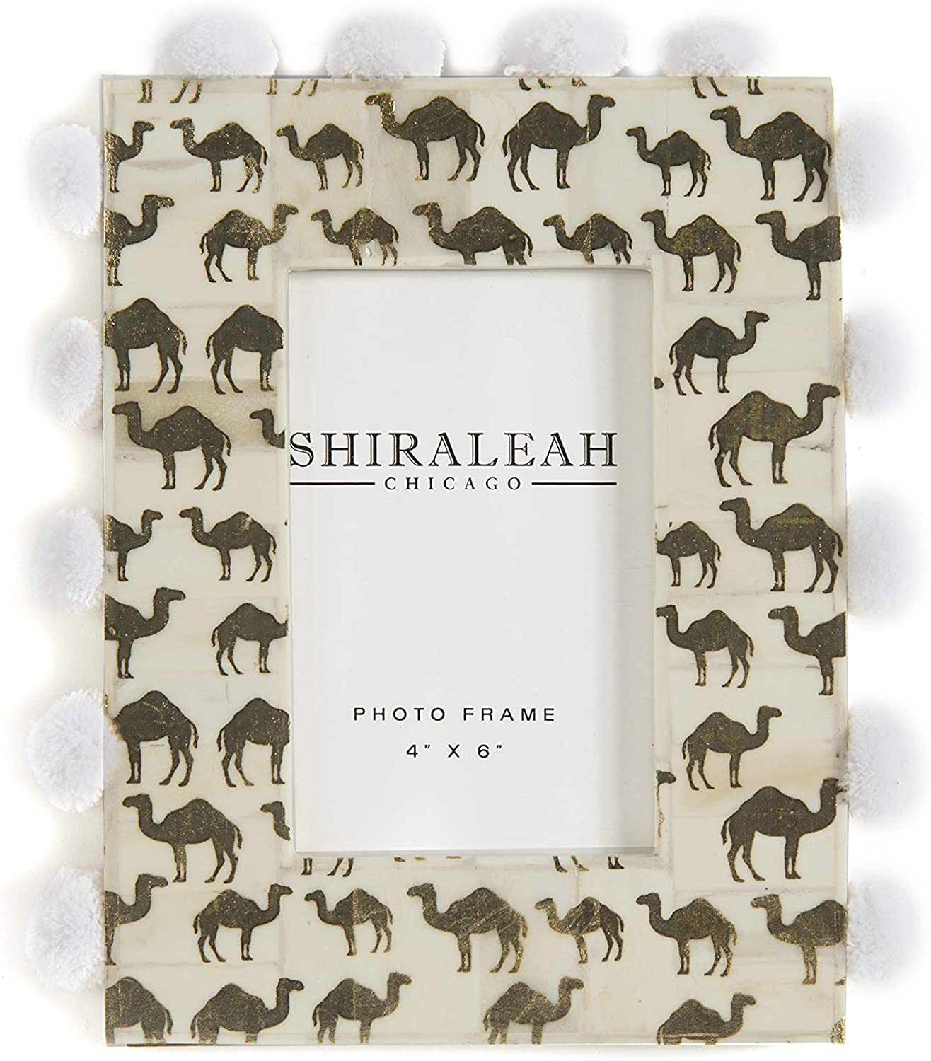 Shiraleah Home The Wanderer Camel 4X6 Picture Frame, Gold