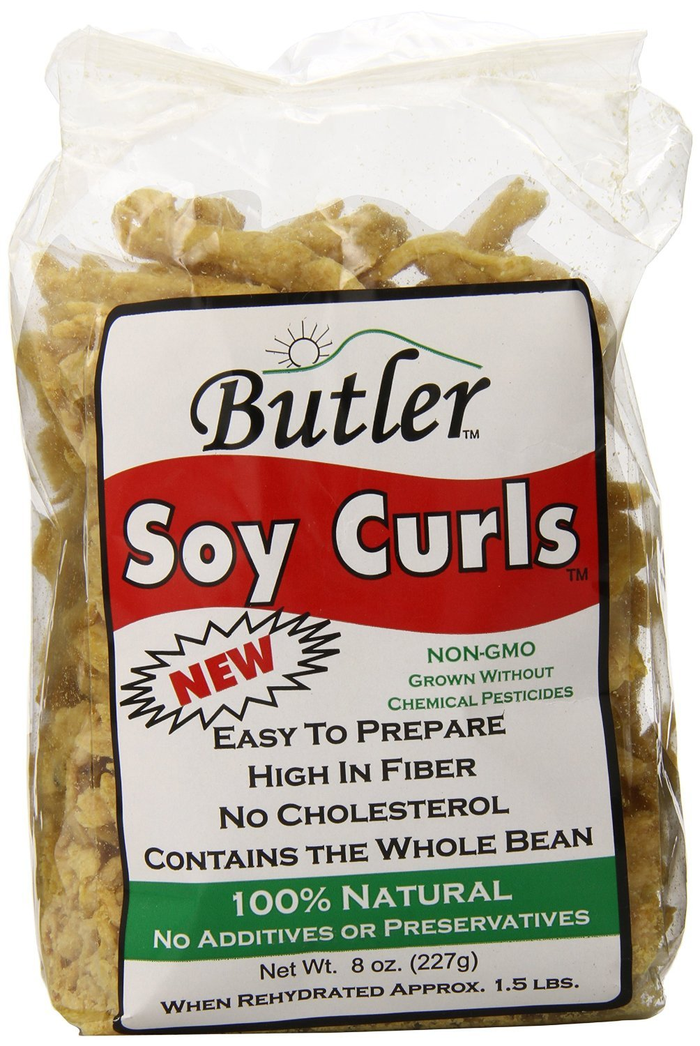 Butler Soy Curls, 8 oz. Bags (Pack of 24) by Butler Foods