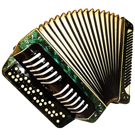 capriole botón acordeón, Vintage alemán Bayan, 3 fila, 100 graves, Rare Folk