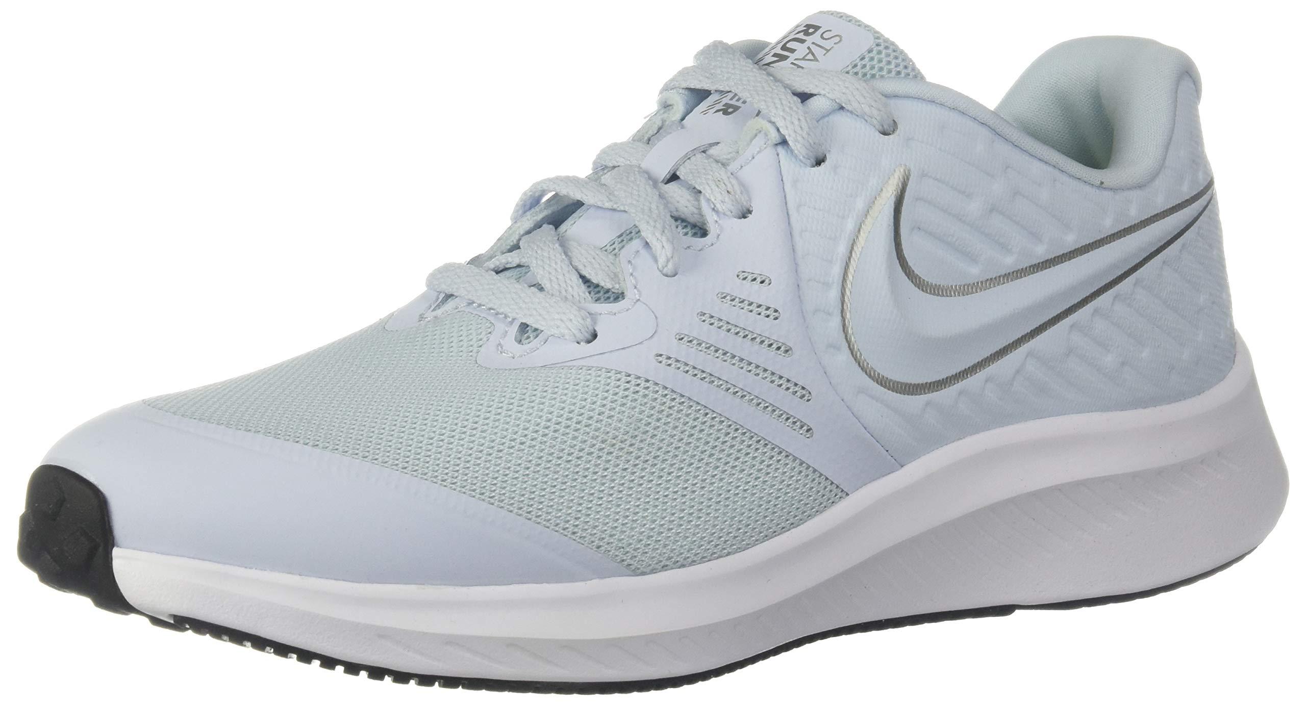 Nike Boys Star Runner 2 (GS) Sneaker, Half Blue/Metallic Silver-Volt, 6Y Youth US Big Kid by Nike