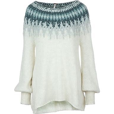 Free People Baltic Fair Isle Women's Pullover Chunky Sweater (M ...