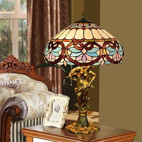 Lámpara de mesa Tiffany de 16 pulgadas Lámpara de mesa retro ...