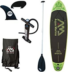 Aqua Marina Breeze 9 Stand Up Paddle Board Inflatable SUP, Green
