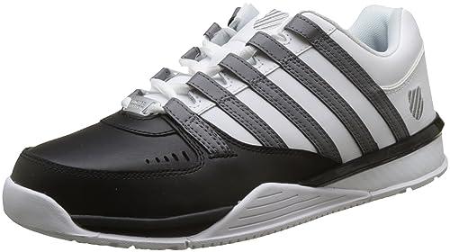 Zapatos grises con cordones K-Swiss Baxter para mujer OVmjgnq
