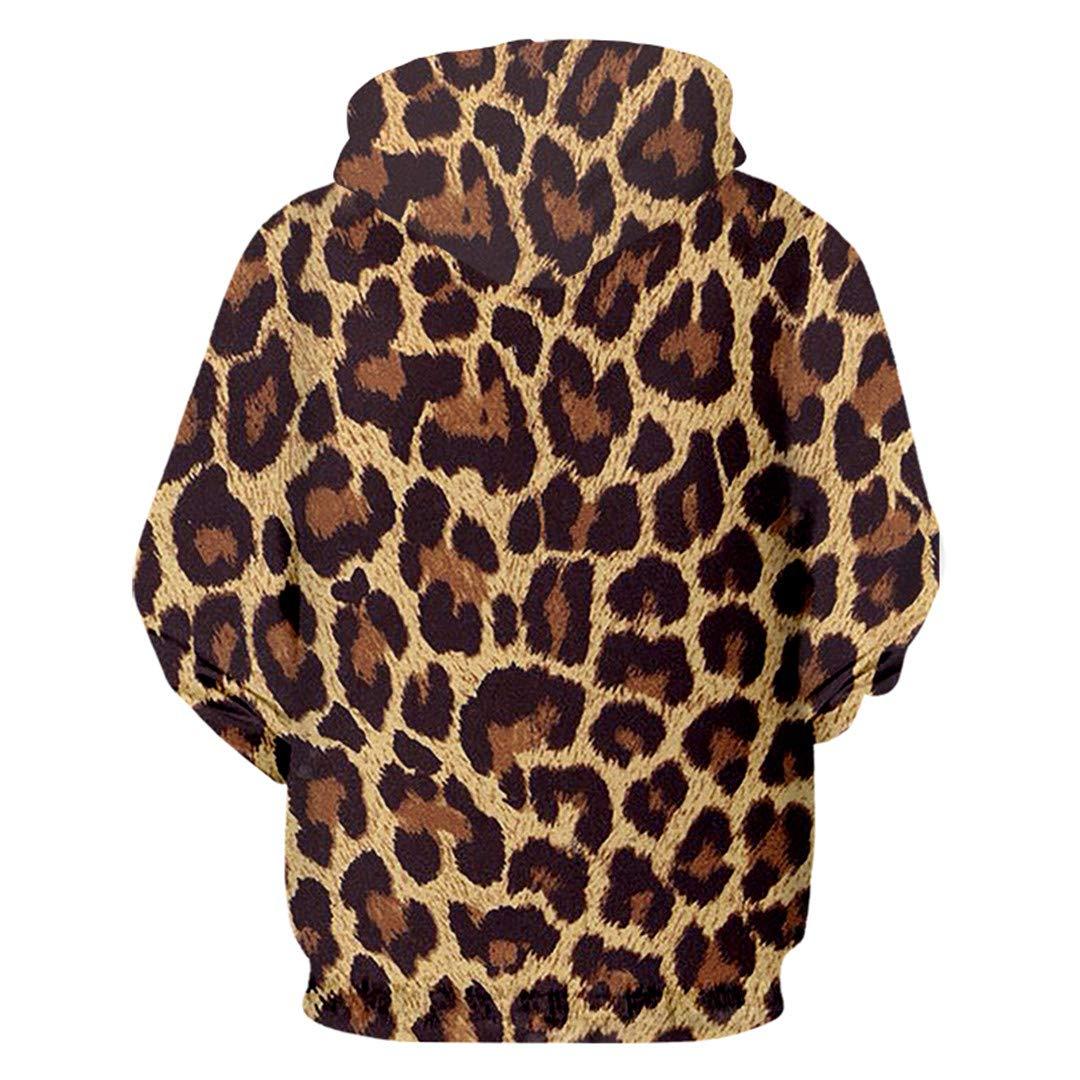 Man Loose Hoodies Sweatshirts 3D Printied Animal Dinosa and Skulls Hooded Coat