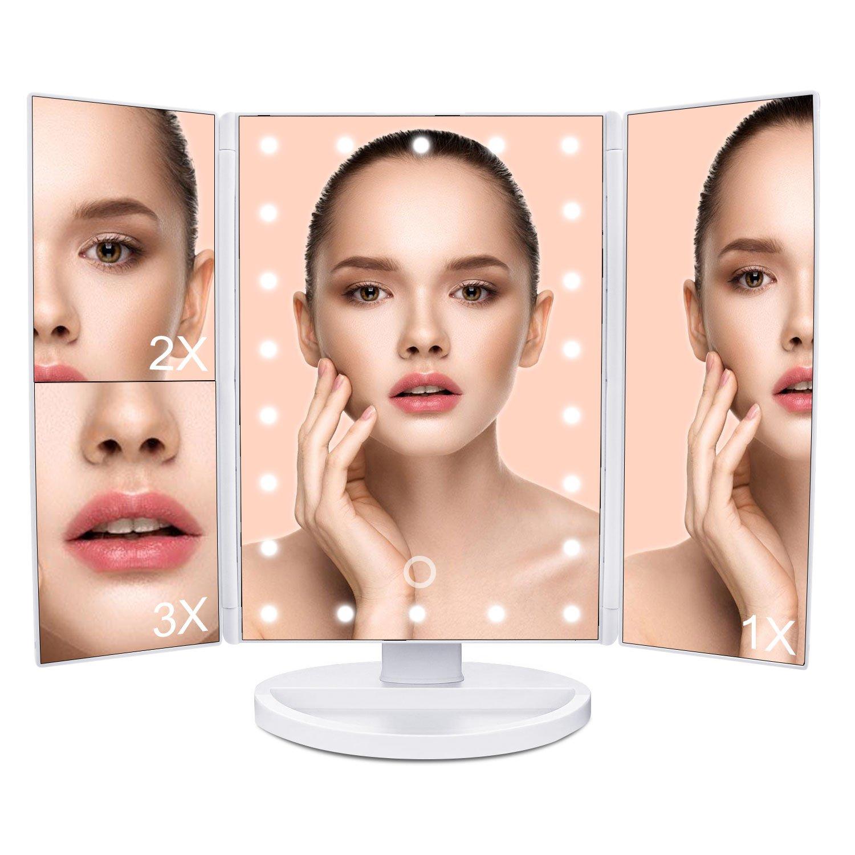 Specchio illuminato per trucco mlovebiti 3x 2x 1x ingrandimento specchio da ebay - Specchio per trucco illuminato ...