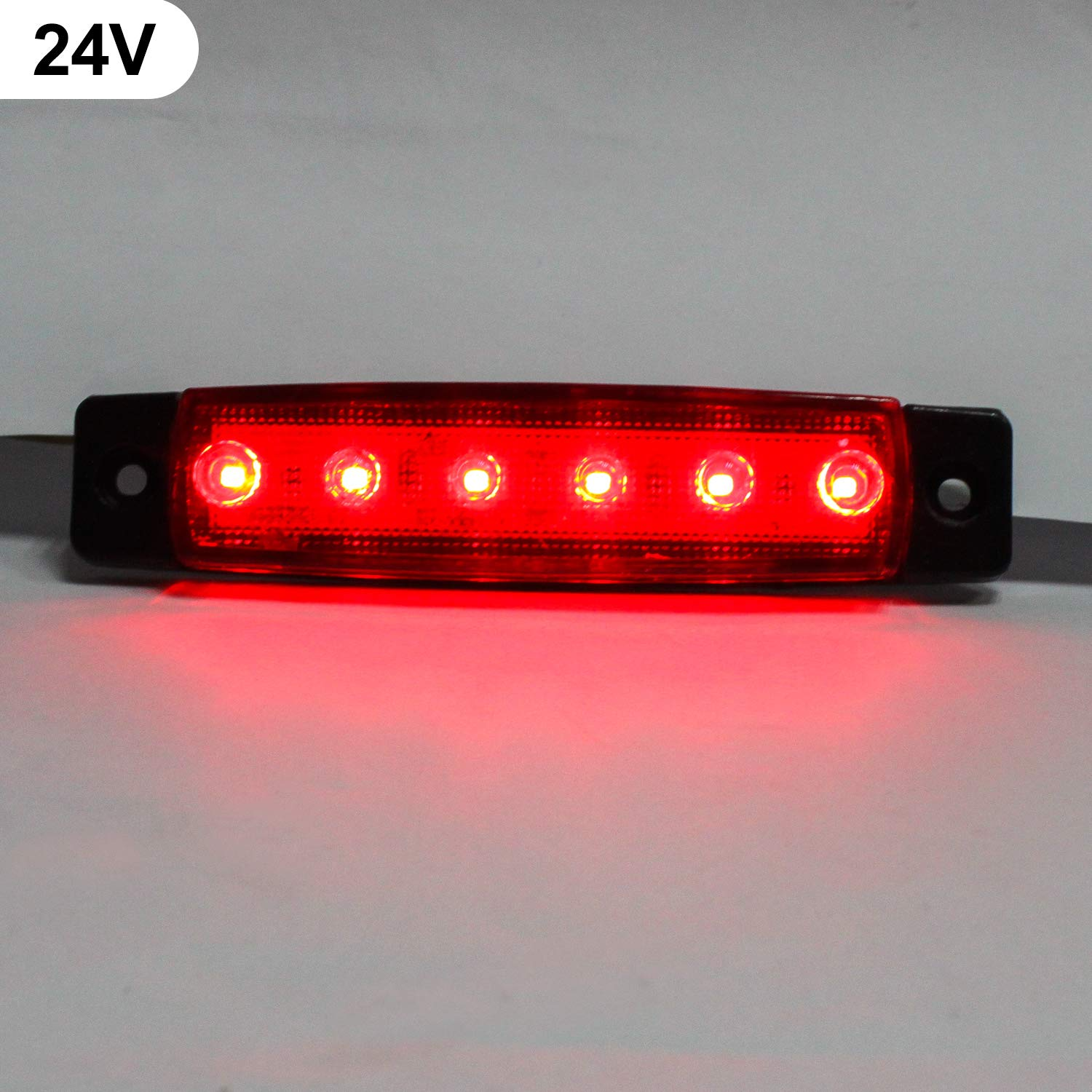 3.8 Trailer Side Marker,10Pack 24V LED Side Marker Lights Lamp,Indicators Light for Back Up Rear Truck Pickup Van ATV Lorries