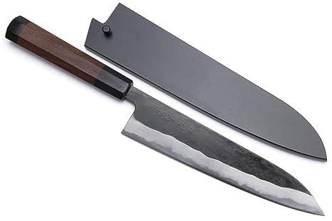 Amazon.com: Yoshihiro Mizu Yaki Aogami - Cuchillo de chef ...