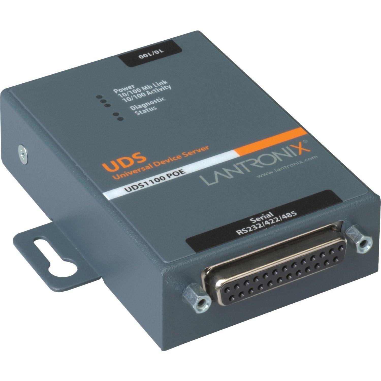 Lantronix Device Server UDS 1100-PoE - Device server - 10Mb LAN, 100Mb LAN, RS-232, RS-422