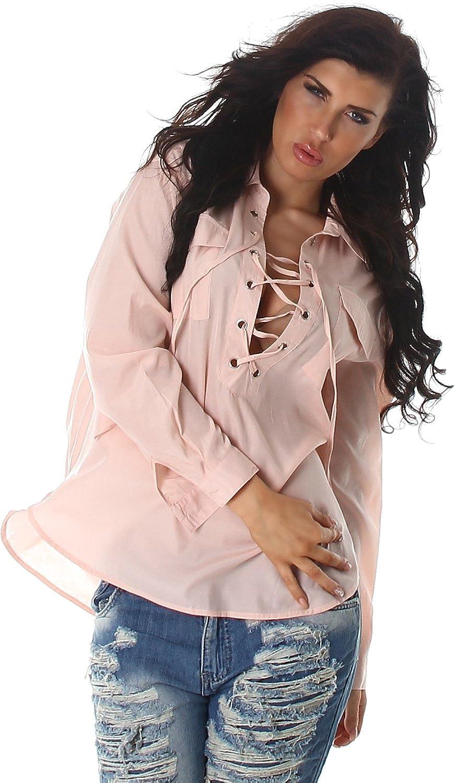 Voyelles Mesdames chemise blouse chemisiers tunique chemise longue blouse tunique col chandail /à manches Uni