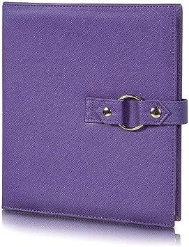 Binder by Kit xChange Storage System Purple Bead Jewelry Crafts Scrapbook Hook Loop