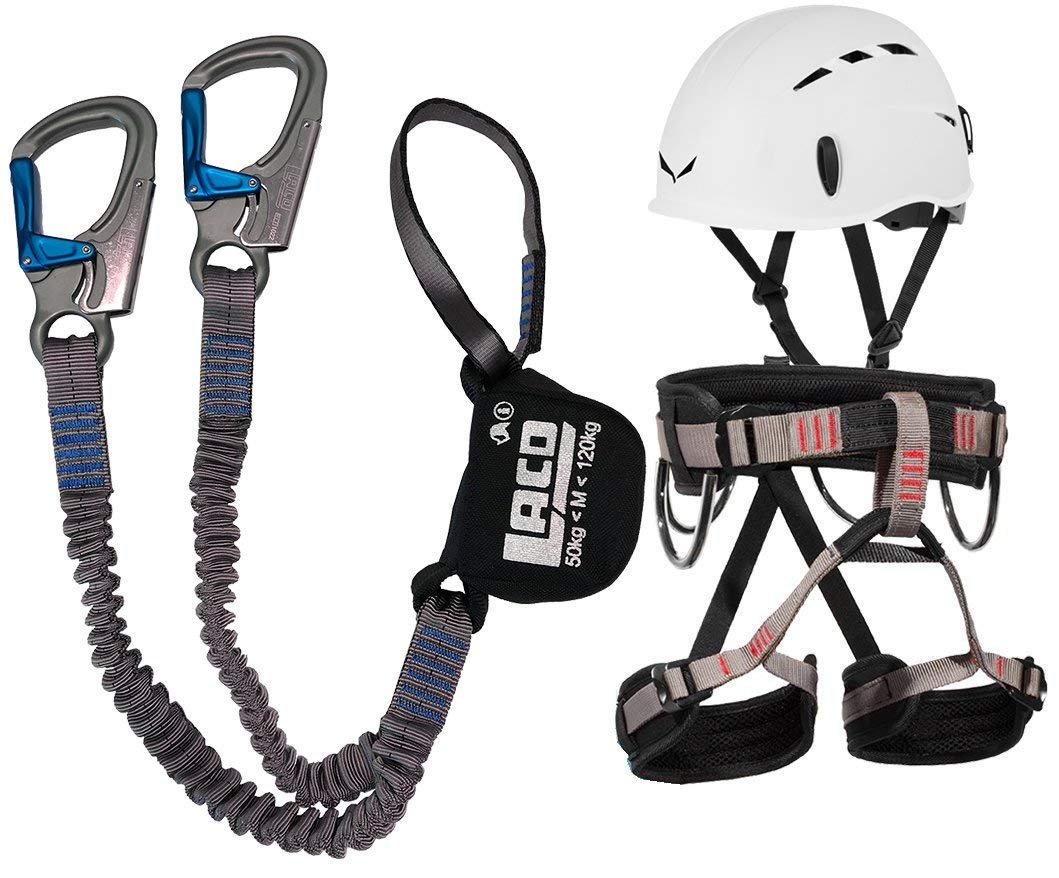 Para montañismo LACD ferrata Pro EVO + LACD correa Start + casco Salewa toxo LACD / Salewa
