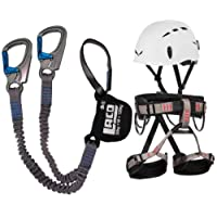 Klettersteigset LACD Ferrata Pro + LACD Gurt Start + Helm Salewa Toxo (L)