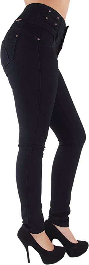 Plus/Junior Size Butt Lift, Levanta Cola, High Waist, Stretch Skinny Jeans