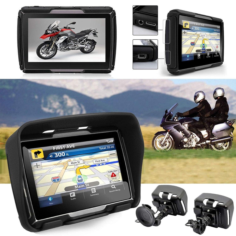 Klares und helles Display Kostenlos Map Update 5 Zoll GPS Navigationsger/ät Navi Drive-M F/ür Motorrad und PKW wasserdichte Bluetooth auch f/ür Camper und LKW nutzbar Radarwarner