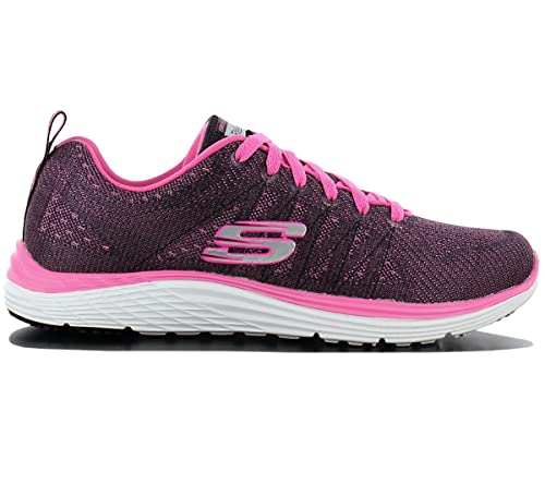 4a52c3ecb367 Skechers Valeris Space Cadet 12224-BKHP Footwear Black Womens Trainers  Sneaker Shoes Size  EU