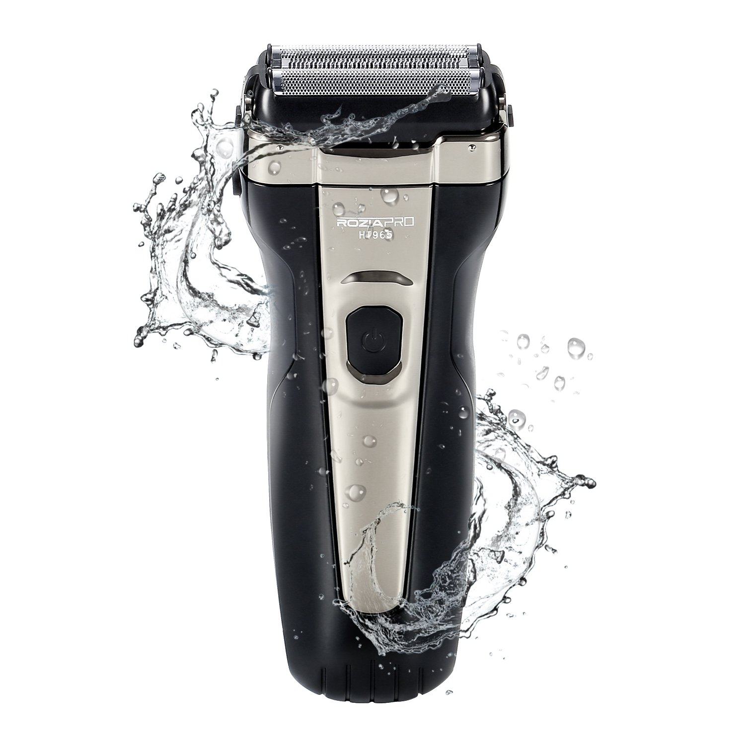 Electric Foil Shaver for Men Wet and Dry USB Rechargeable Corded Cordless Waterproof Electric Beard Trimmer Razor Pop-up Trimmer ROZIAPRO
