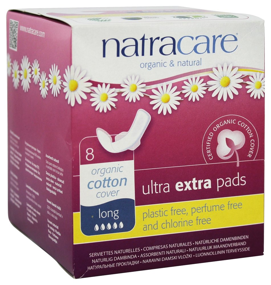 Natracare Organic Cotton Ultra Extra Pads 8 Long: Amazon.es: Salud y cuidado personal