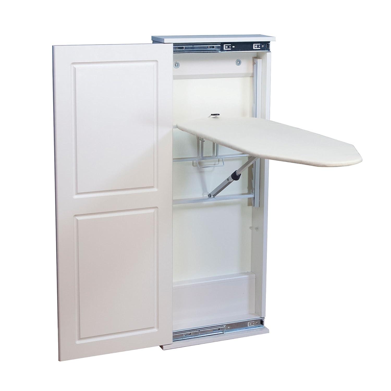 Household Essentials 18300 – 1 Iron ' n Fold床キャビネットFold Awayアイロンボード|ホワイト B00I8V76ZA