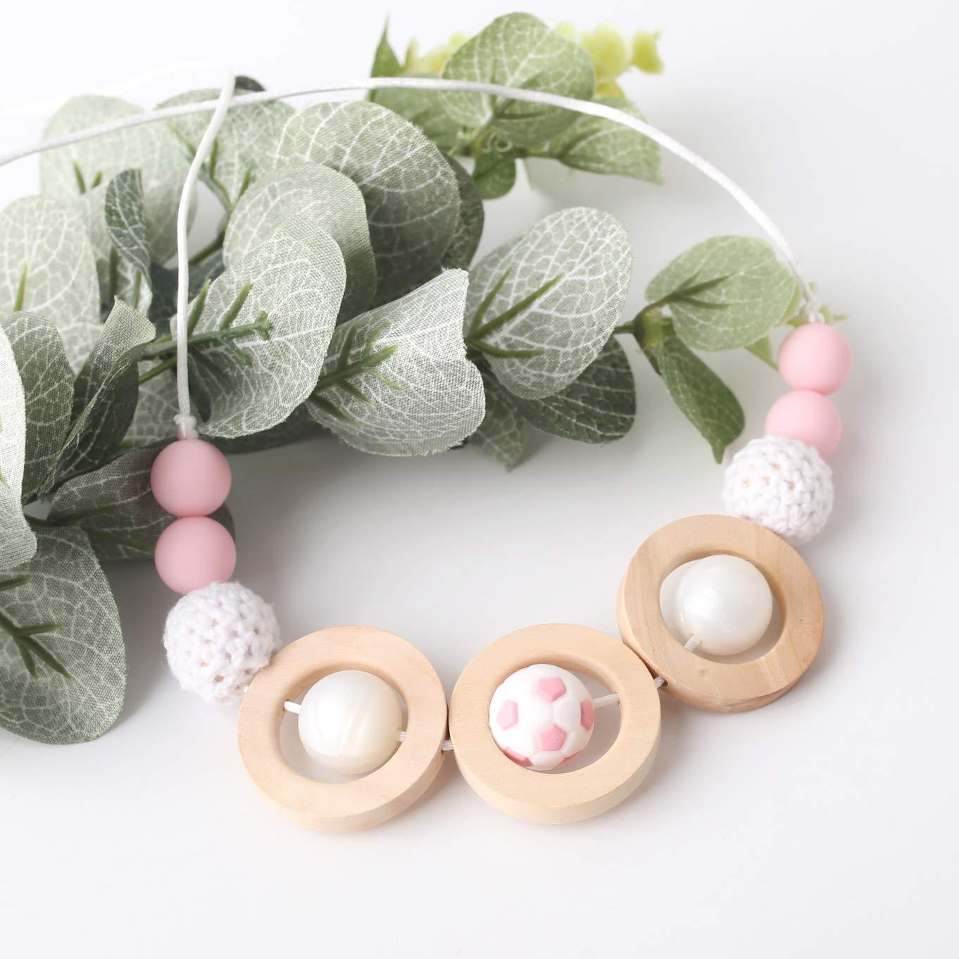 50pc Silicone /étoile perles Wave Baby Teether jouets b/éb/é Montessori jouets de qualit/é alimentaire Silicone dentition perles /à m/âcher perles /à dentition
