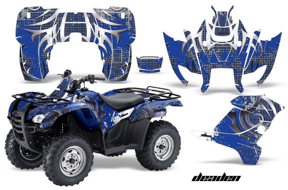 AMR Racing Graphicsキットfor ATVホンダRancher at 2007 – 2013 ATV Deadenブルー   B0797JQ9BH