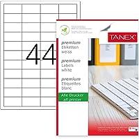 Tanex Tw-2044 LazerPostalama, Davetiye, Kargo Işleri Için Her Pakette 100 Sayfa Etiket, Beyaz