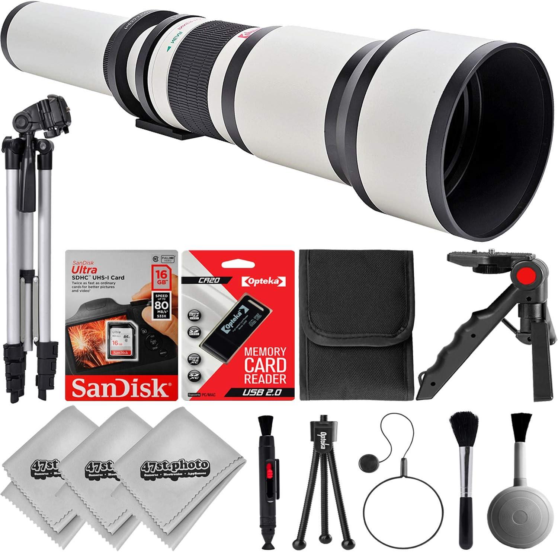 T5 70D T6 77D 5D 7D 6D Wild Life and Astrophotography Lens for Canon EOS Digital SLR Cameras 80D T5i Opteka 650-1300mm W f//8 Telephoto Zoom Sports SL1 /& SL2 T6i T6s 60D T7i 7D Mark II