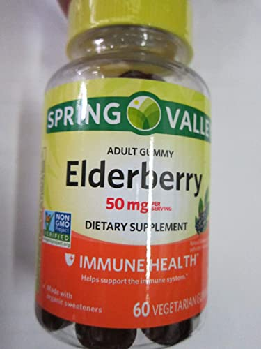 Spring Valley Adult Elderberry 50 mg Immune Health, 60 Gummies