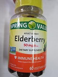 Spring Valley Adult Elderberry 50 mg Immune Health, 60 Gummies