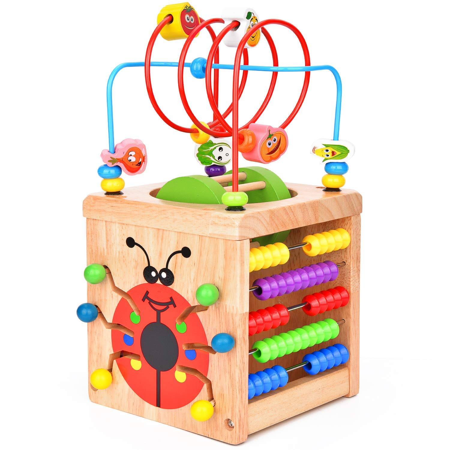 Multi-functional Wooden Activity Cube