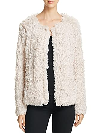Image Unavailable. Image not available for. Color  Sanctuary Womens Stella  Faux Fur Jacket Off White ... 9dc007c32e