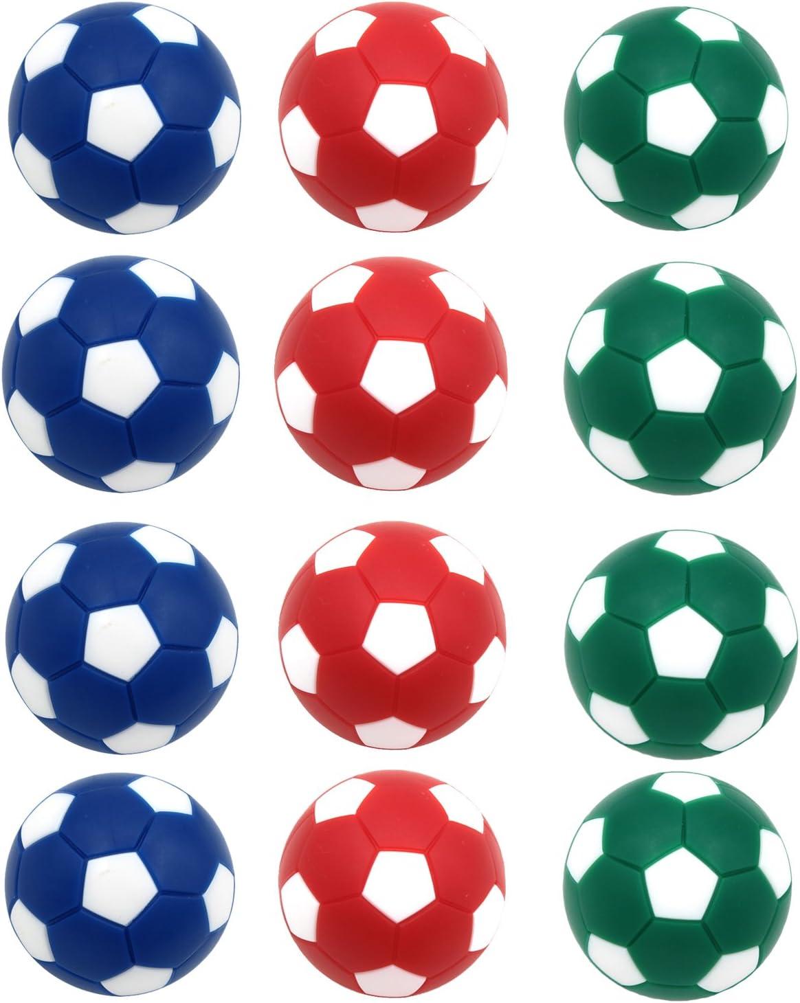 goutoports mesa fútbol Foosballs, 12 Pack pelotas de repuesto, 36 mm Mini Colorful oficial pelota de Juego de mesa, Deep Color Balls: Amazon.es: Deportes y aire libre