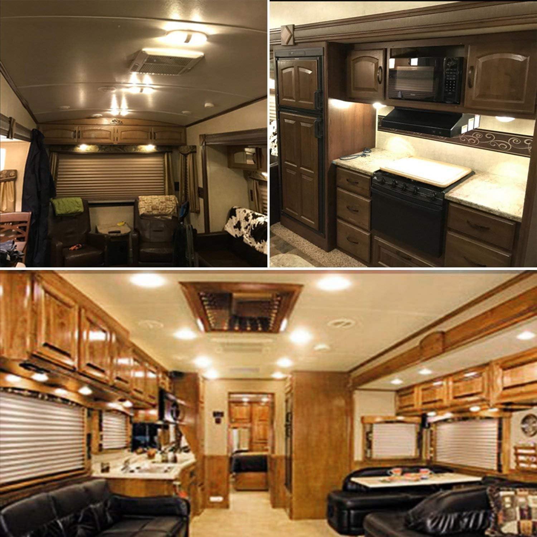 Super Bright T10 921 922 912 LED Bulbs Soft White light for 12V RV Ceiling Dome Light RV Interior Lighting Trailer Camper Boat 600 Lumens Pack of 10