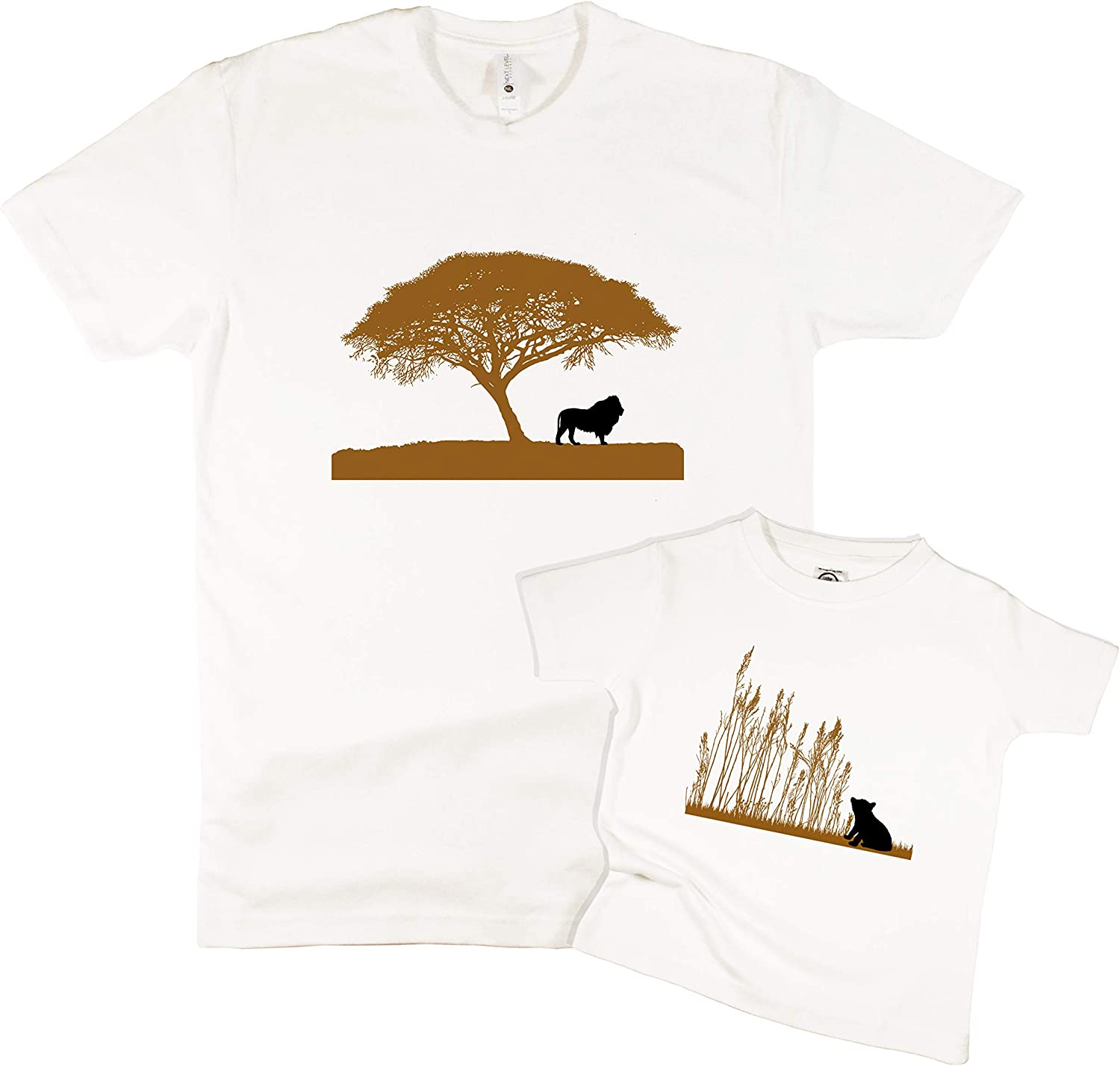 Each Sold Separately The Spunky Stork Lion /& Cub Matching Daddy /& Me Adult Baby Toddler T Shirt
