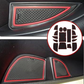 Amazon.es: Accesorios de ajuste personalizado para portavasos y forro de puerta para M azda CX-5 CX5 2013 2014 estilo de coche (16 piezas)