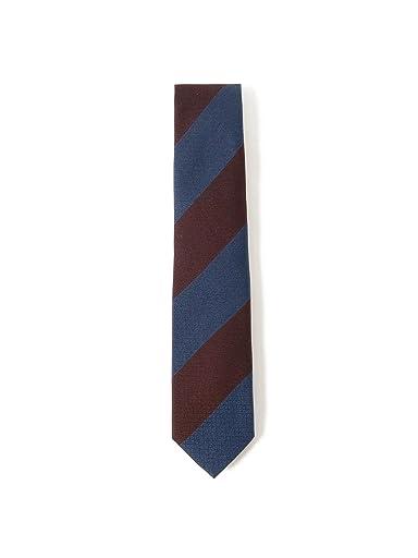 Silk Stripe Tie 21-44-6001-380: Burgundy