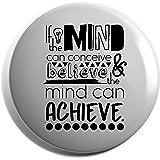 Hippowarehouse Kind heart fierce mind brave spirit Badge Pin