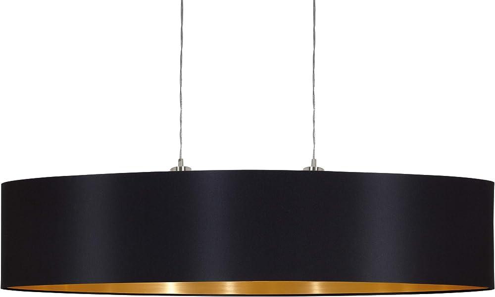 Eglo maserlo lampadario a sospensione, nero/giallo 31611