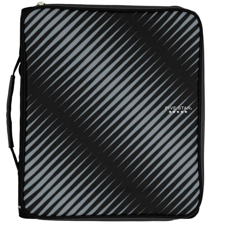 Five Star Zipper Binder Plus Multi Access File, 2-inch Capacity, 13.75 x 12.12 (29592) (Black)